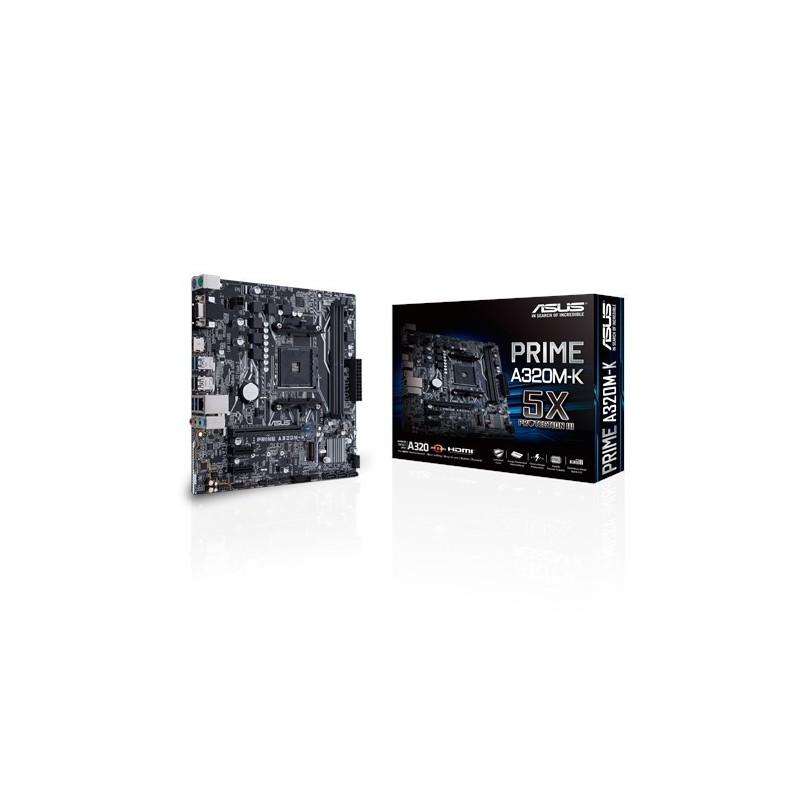 ASUS MB PRIME A320M-K AMD A320 Zócalo AM4 micro ATX