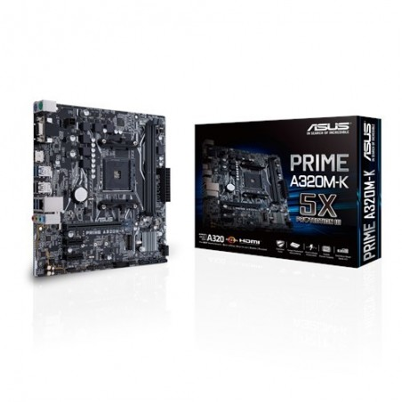 ASUS MB PRIME A320M-K AMD A320 Emplacement AM4 micro ATX