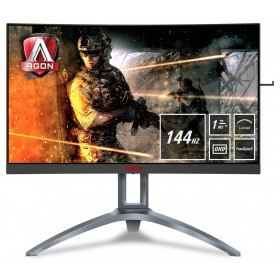 "AOC Gaming AG273QCX monitor piatto per PC 68,6 cm (27"") 2560 x 1440 Pixel Quad HD LED Nero, Rosso"