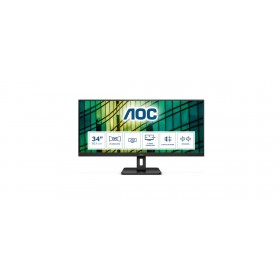 "AOC Essential-line Q34E2A LED display 86.4 cm (34"") 2560 x 1080 pixels Full HD+ Black"
