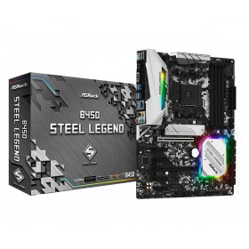 Asrock B450 Steel Legend AMD B450 Presa AM4 ATX