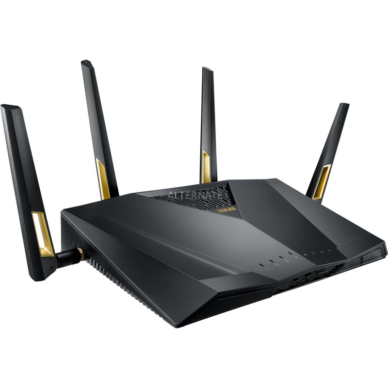 ASUS RT-AX88U wireless router Dual-band (2.4 GHz   5 GHz) 3G 4G Black
