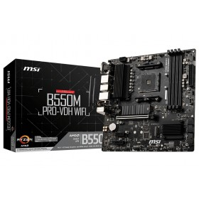 MSI B550M PRO-VDH WIFI Motherboard AMD B550 Socket AM4 micro ATX