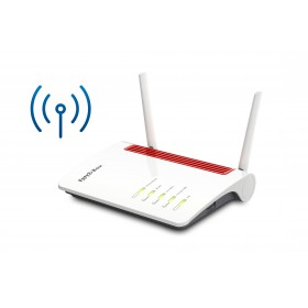 AVM FRITZ!Box 6850 LTE WLAN-Router Gigabit Ethernet Dual-Band (2,4 GHz 5 GHz) 3G 4G Rot, Weiß