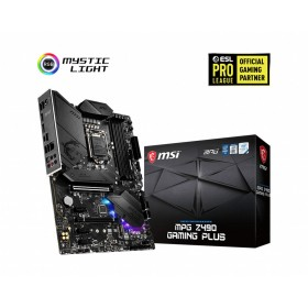 MSI MPG Z490 GAMING PLUS Motherboard 'ATX, LGA1200, DDR4, LAN, USB 3.2 Gen2, Type C, M.2, DisplayPort, HDMI, Pre-installed I O