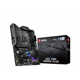 MSI MPG Z490 GAMING PLUS Motherboard 'ATX, LGA1200, DDR4, LAN, USB 3.2 Gen2, Type C, M.2, DisplayPort, HDMI, Pre-installed I/O