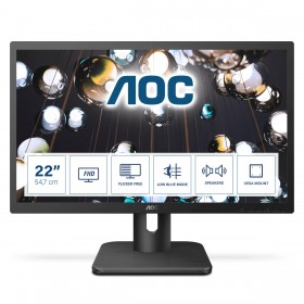 "AOC E1 22E1D computer monitor 54.6 cm (21.5"") 1920 x 1080 pixels Full HD LED Black"
