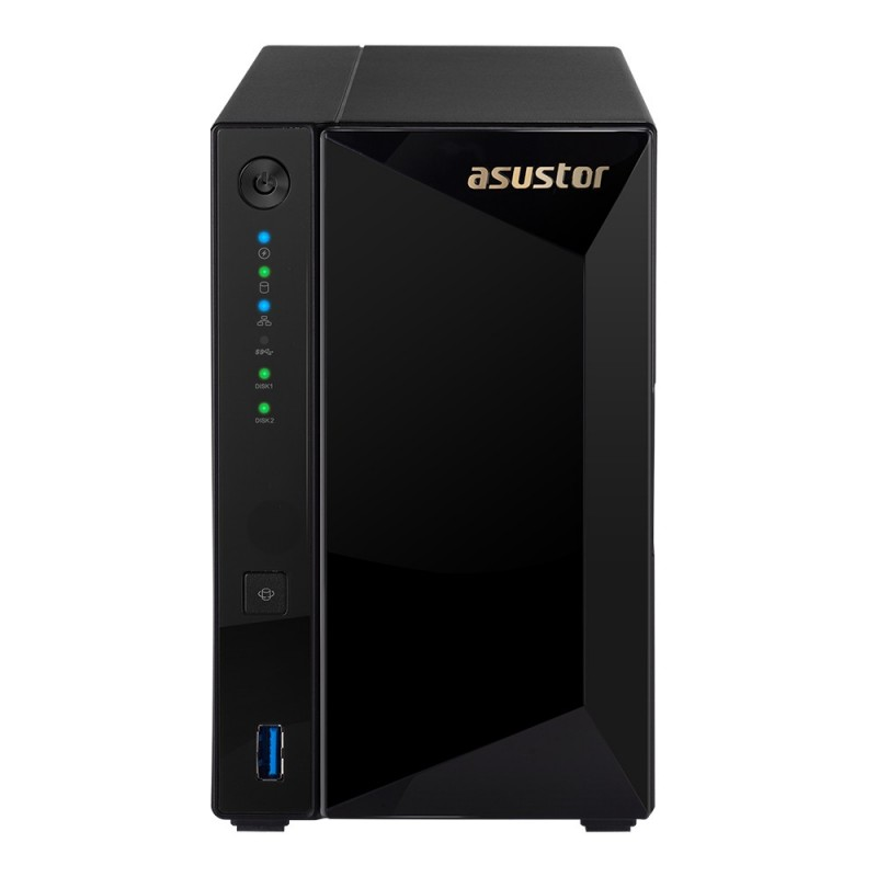 Asustor AS4002T NAS storage server Compact Ethernet LAN Black Armada 7020