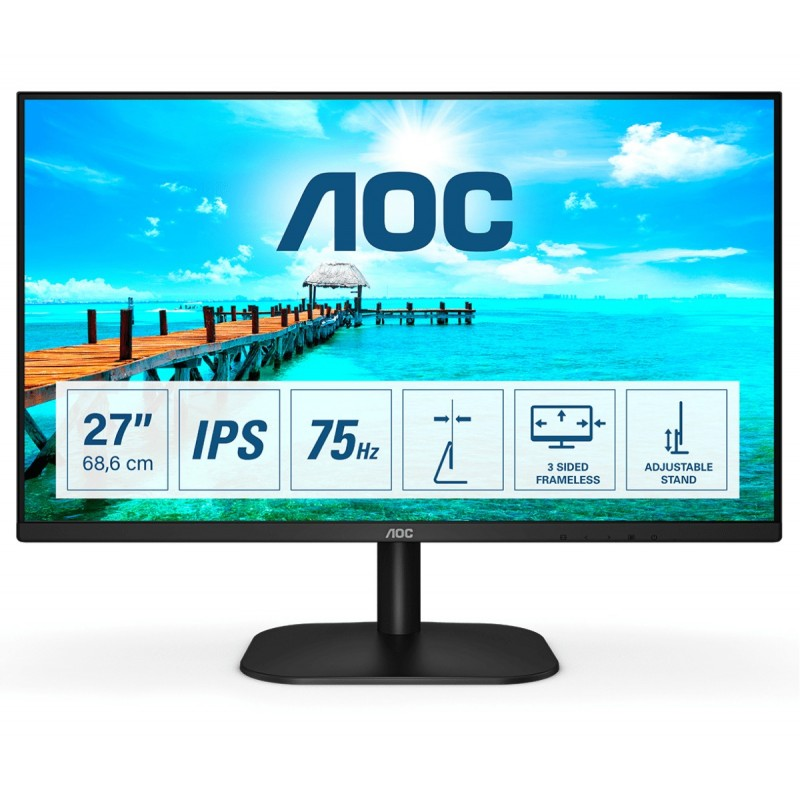 AOC B2 27B2DA LED display 68,6 cm (27 Zoll) 1920 x 1080 Pixel Full HD Schwarz