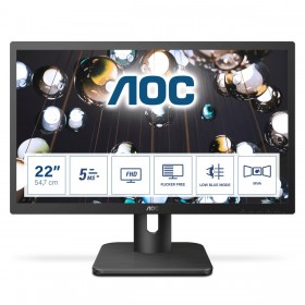 "AOC E1 22E1Q monitor piatto per PC 54,6 cm (21.5"") 1920 x 1080 Pixel Full HD LED Nero"