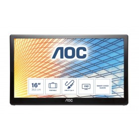 "AOC E1659FWU LED display 39,6 cm (15.6"") 1366 x 768 Pixel Nero"