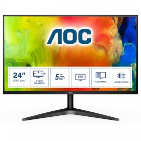 "AOC B1 24B1H computer monitor 61 cm (24"") 1920 x 1080 pixels Full HD LED Black"