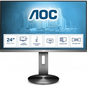 "AOC I2490PXQU BT computer monitor 60.5 cm (23.8"") 1920 x 1080 pixels Full HD LED Grey"