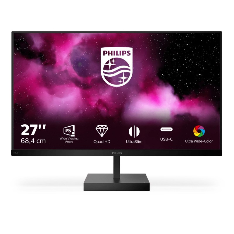 "Philips C Line 276C8/00 monitor piatto per PC 68,6 cm (27"") 2560 x 1440 Pixel Quad HD LCD Nero"