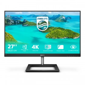 "Philips E Line 278E1A 00 monitor piatto per PC 68,6 cm (27"") 3840 x 2160 Pixel 4K Ultra HD IPS Nero"