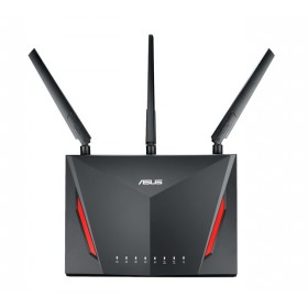 ASUS RT-AC86U router inalámbrico Gigabit Ethernet Doble banda (2,4 GHz / 5 GHz) Negro