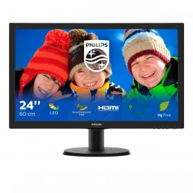 Philips V Line LCD monitor with SmartControl Lite 243V5LHSB 00