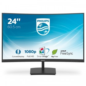 "Philips E Line 241E1SC 00 LED display 59,9 cm (23.6"") 1920 x 1080 Pixel Full HD Nero"