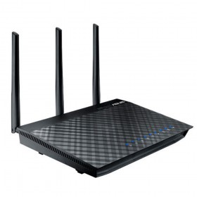 ASUS RT-AC66U router inalámbrico Gigabit Ethernet Doble banda (2,4 GHz   5 GHz) Negro
