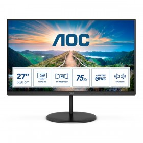 "AOC Q27V4EA LED display 68,6 cm (27"") 2560 x 1440 Pixel 2K Ultra HD Nero"