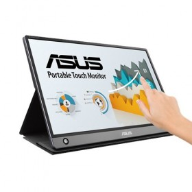 "ASUS MB16AMT touch screen monitor 39.6 cm (15.6"") 1920 x 1080 pixels Multi-touch Tabletop Grey"