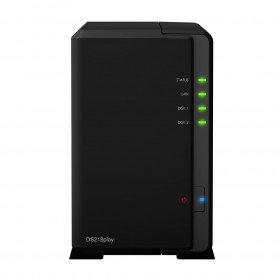 Synology DiskStation DS218play NAS Compatta Collegamento ethernet LAN Nero RTD1296