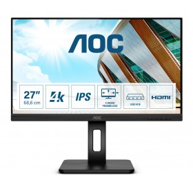 "AOC U27P2 LED display 68,6 cm (27"") 3840 x 2160 pixels 4K Ultra HD Noir"