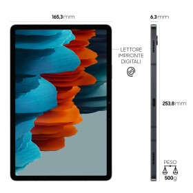 "Samsung Galaxy Tab S7 LTE SM-T875NZKAEUE 4G 128 GB 27.9 cm (11"") Qualcomm Snapdragon 6 GB Wi-Fi 6 (802.11ax) Android 10 Black"
