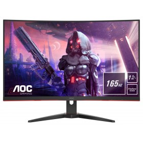 "AOC G2 CQ32G2SE BK LED display 80 cm (31.5"") 2560 x 1440 pixels 2K Ultra HD Black, Red"