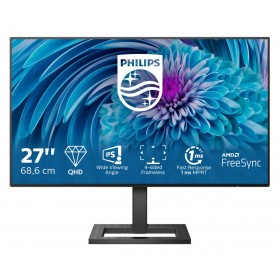 "Philips E Line 275E2FAE 00 pantalla para PC 68,6 cm (27"") 2560 x 1440 Pixeles 4K Ultra HD LED Negro"