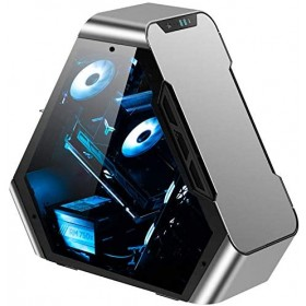Jonsbo TR03-A Showcase, Tempered Glass - silber