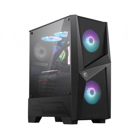 MSI MAG FORGE 100R Mid Tower Gaming Computer Case 'Black, 2x