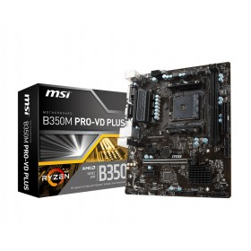 MSI B350M PRO-VD PLUS AMD B350 Socket AM4 micro ATX